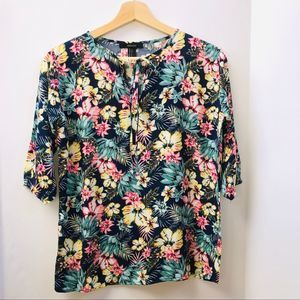 Forever 21 Tropical Floral Tunic Top